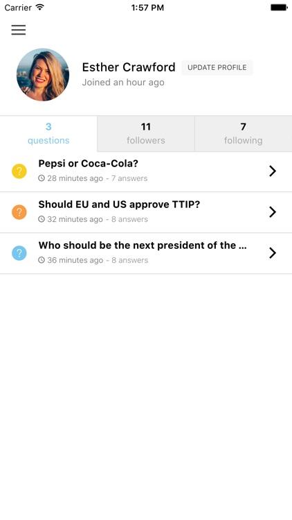 Involve - Social Polling screenshot-3