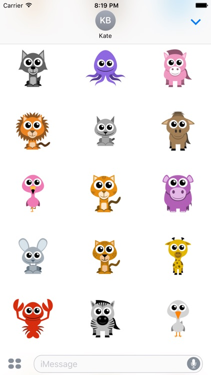 Adorable Animal Stickers screenshot-1