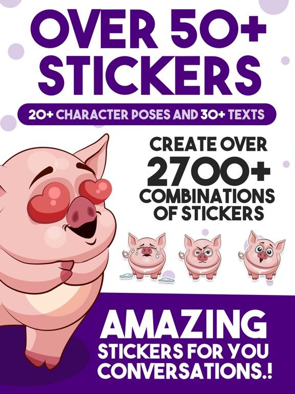 Screenshot #2 for Piggy - Sticker Pack