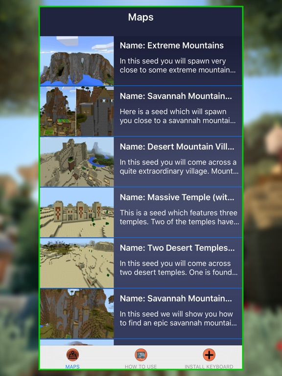 MineMaps For MCPE Maps For Minecraft PE By Nadeem Mughal IOS - Minecraft maps fur ipad