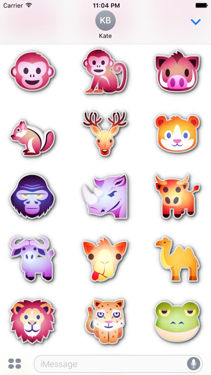 Animals emoticons • Stickers for iMessage screenshot-3
