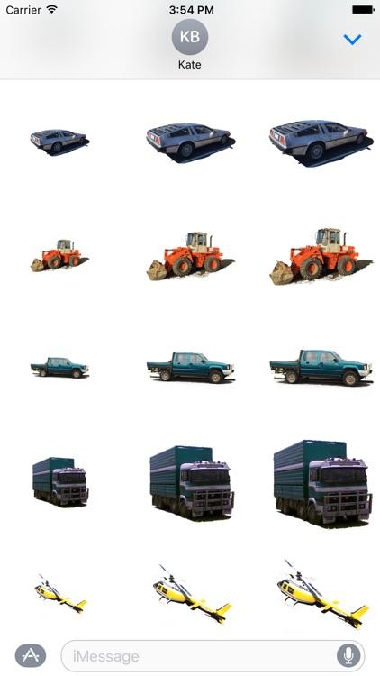 Car Truck Digger Stickers