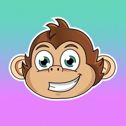 Cute Monkey Stickers