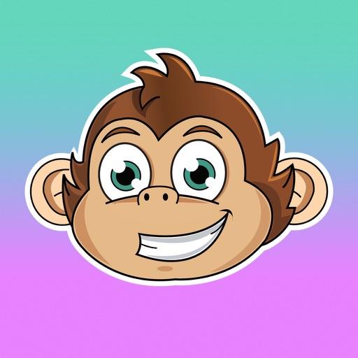 Cute Monkey Stickers