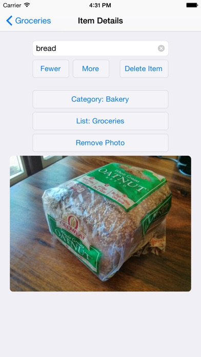 Our Groceries Shopping List app image