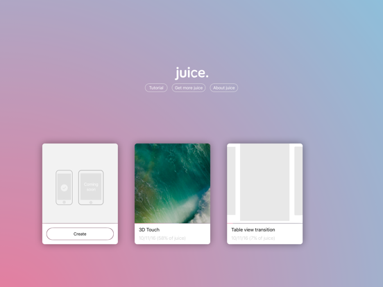 juice. - animation prototyping tool screenshot two