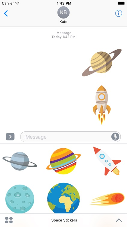 Space Stickers For iMessage