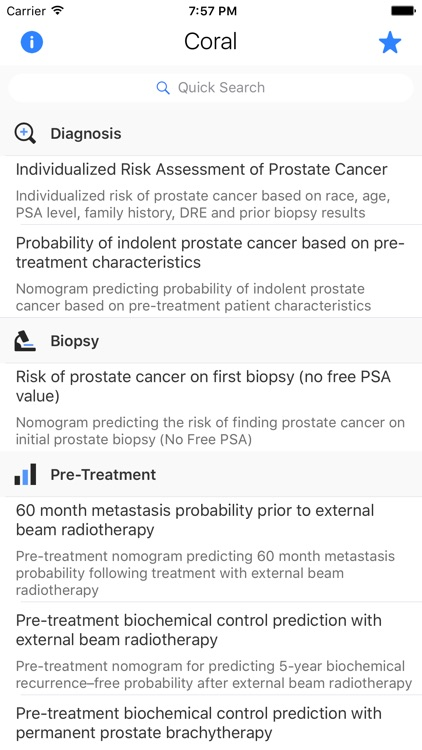 CORAL: Prostate Cancer Risk and Survival