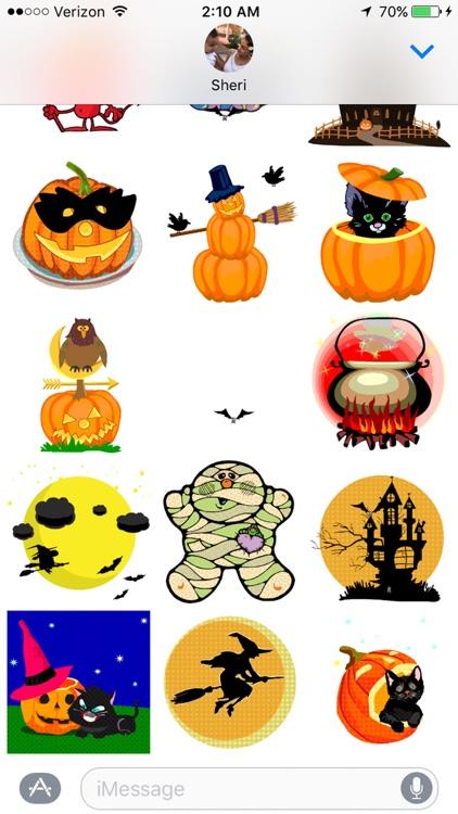 Animated Halloween Sticker Pack screenshot-3
