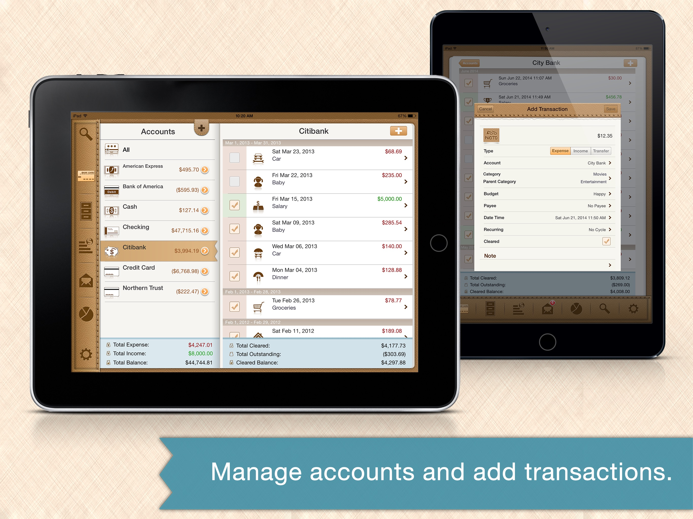Money Monitor Pro for iPad - Budget & Bill Manager Screenshot