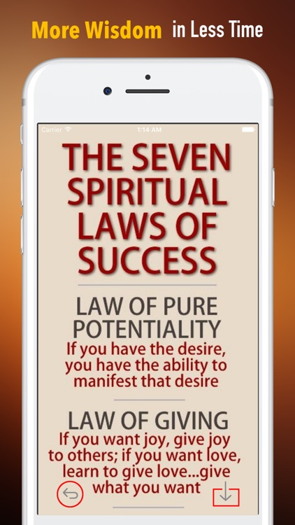 Seven Spiritual Laws of Success:Practical Guide screenshot-0