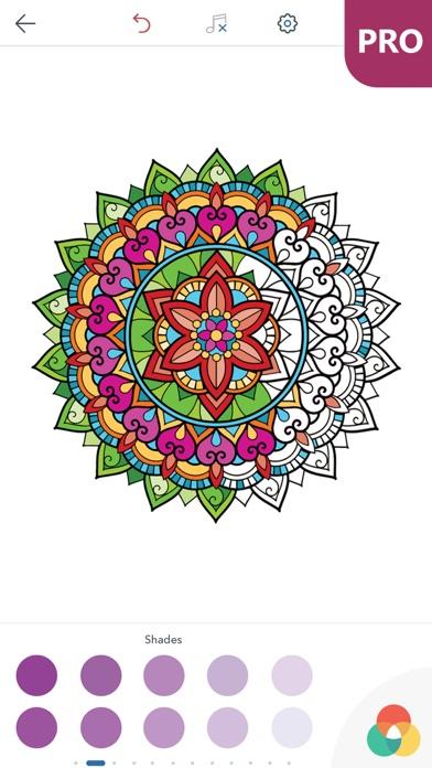 マンダラ塗り絵 無料 PRO : おとなのぬりえ 本 - 曼荼羅 塗り絵 塗り絵アプリのおすすめ画像4