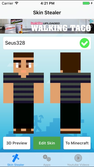 Skin Stealer For Minecraft Game Textures Skins By Seus Corp Ltd - Minecraft skin stealer name mc