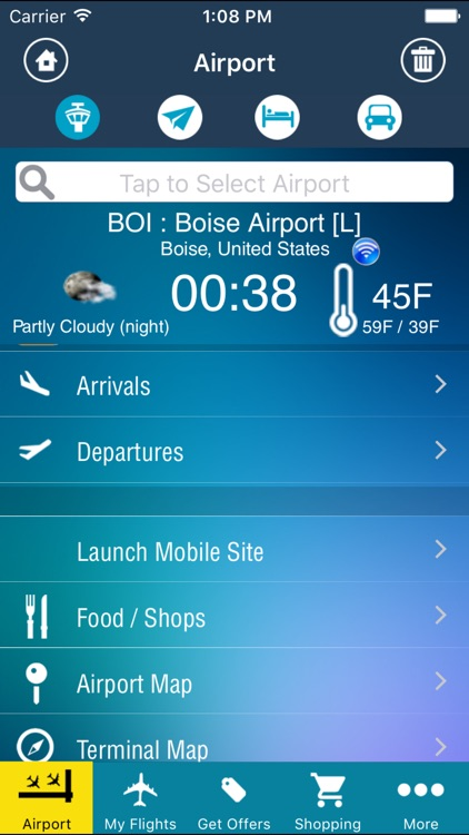 Boise Airport Pro (BOI) + Flight Tracker screenshot-0