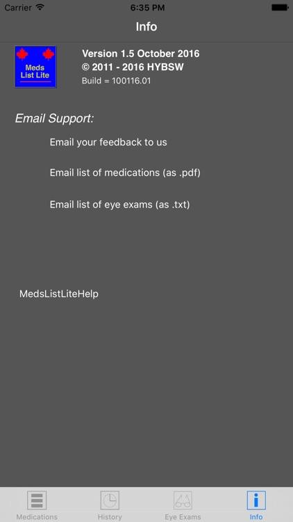 MedsListLite screenshot-3