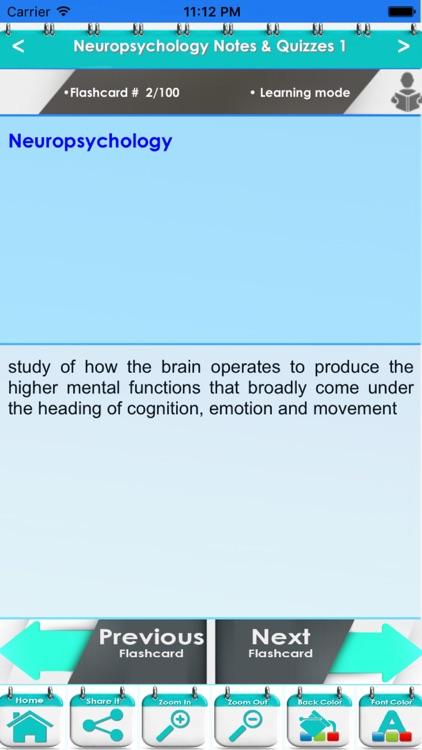 Neuropsychology Qbank 9600 Exam Notes & Quiz