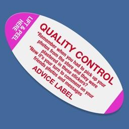 Quality Control Advice Label