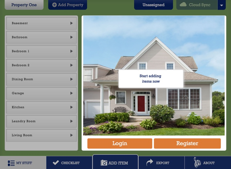 Liberty Mutual Home Gallery® - Household Inventory for iPad