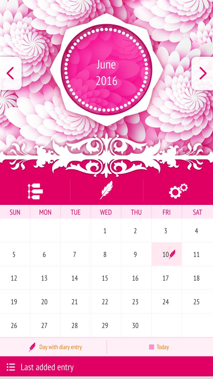 Secret Diary With Passcode Screenshot
