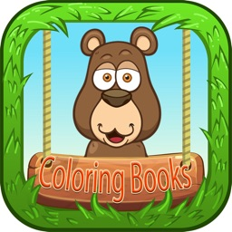 Adult color books (animal) coloring pages for kids