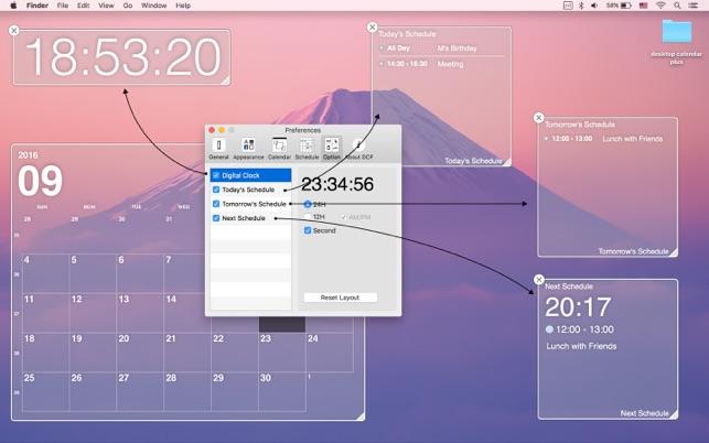 desktop calendar plus on the mac app store