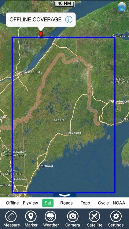 Maine lakes charts - GPS fishing maps Navigator screenshot-4