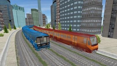 行驶在城市地铁列车辛3D App 截图