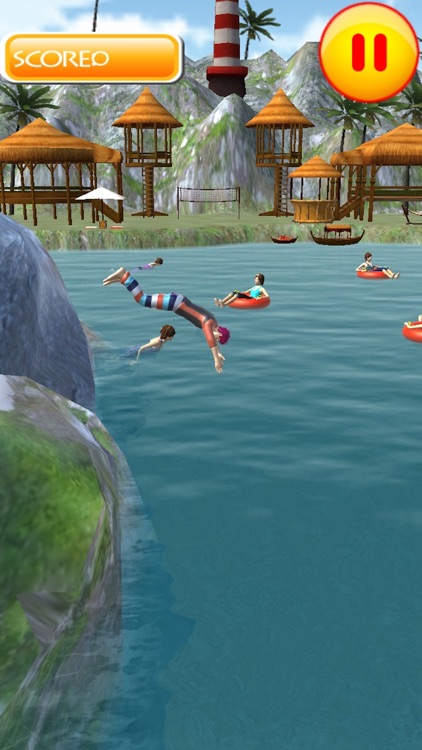 Flip Swim Diving : Cliff Jumping screenshot-3
