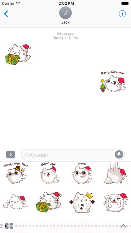 Cat Winter Christmas Stickers