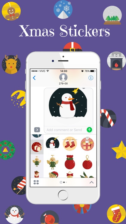 Xmas Stickers - Christmas Moji for iMessage screenshot-1