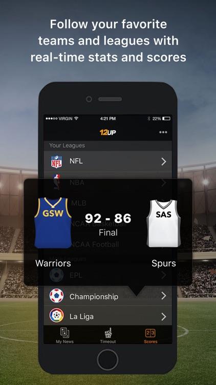 12up - Sports News & Scores screenshot-4