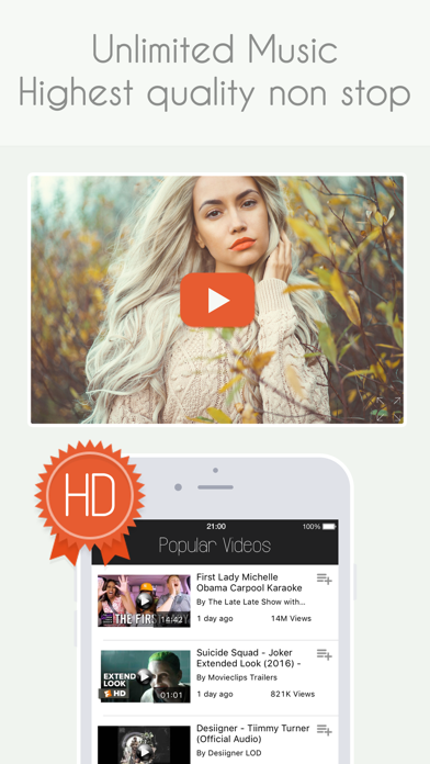 Wouptube - HD Free Music Video Player for Youtube by