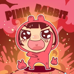 Pink Rabbit − NHH Stickers