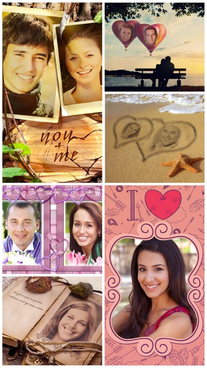 Love Card - double picture frames on Valentine day screenshot-4