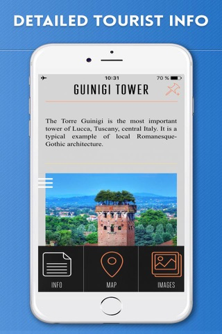 Lucca Travel Guide with Offline City Street Map - náhled