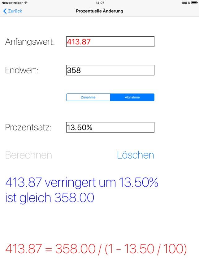 ProzenTutor - ZEIGT DEN LÖSUNGSWEG Screenshot