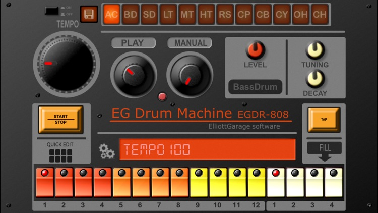 EGDR808 Drum Machine HD screenshot-1
