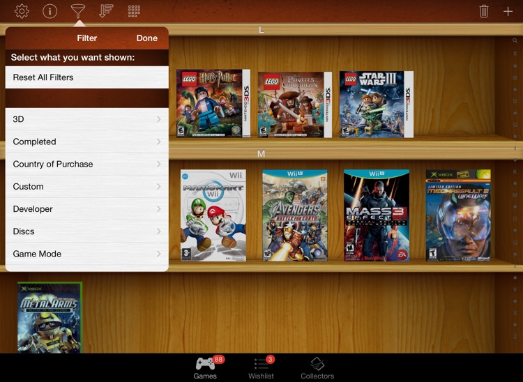 Video Games Manager for iPad screenshot-3