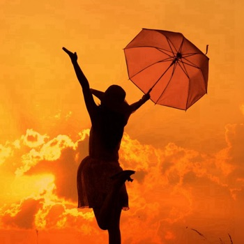 Umbrella Girl Wallpapers HD:Quotes with Art