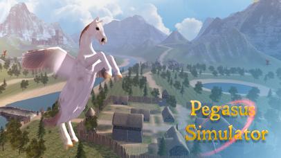 Flying Pegasus: Magic Horse Simulator 3D screenshot one