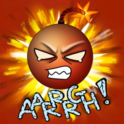Aargh Stress Bomb Stickers for Angry Text Messages