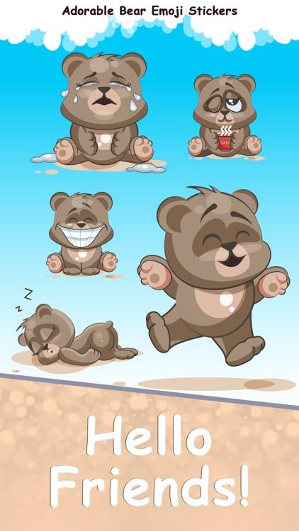 Adorable Bear Emoji Stickers
