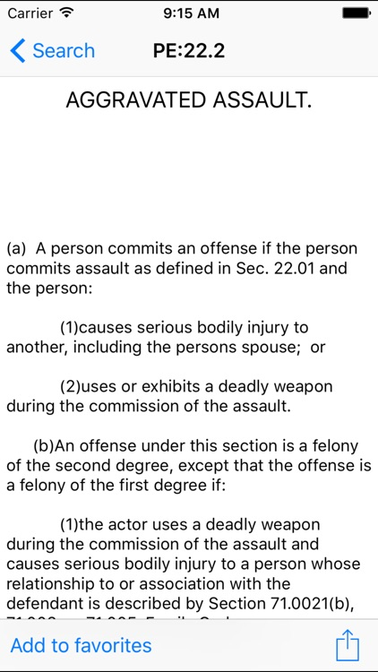 TXLaw Penal Code screenshot-3