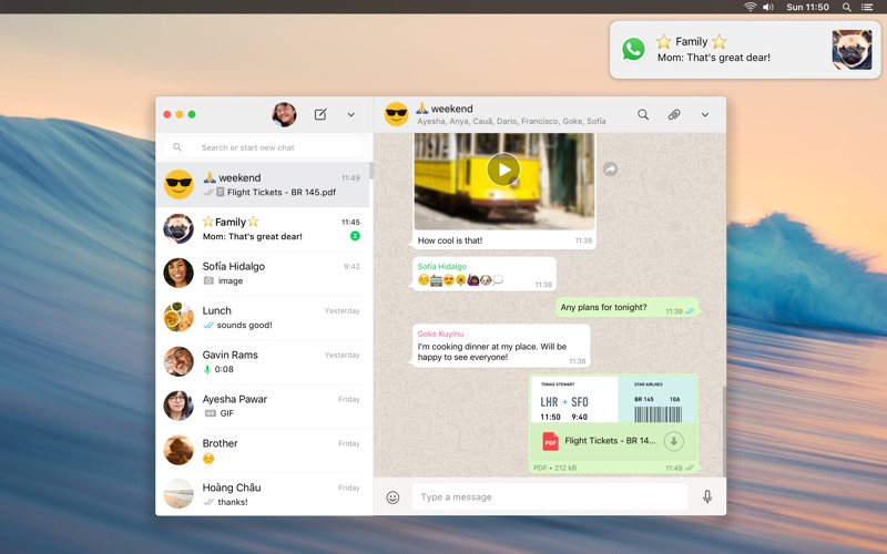WhatsApp Desktop for pc