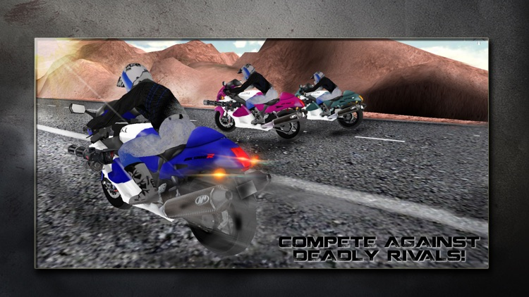 Super Motor Bike Shooter Traffic Race 3D screenshot-3