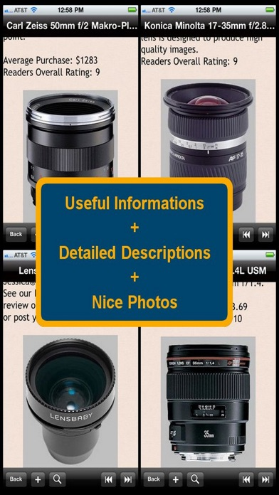 Camera Lens Bible review screenshots