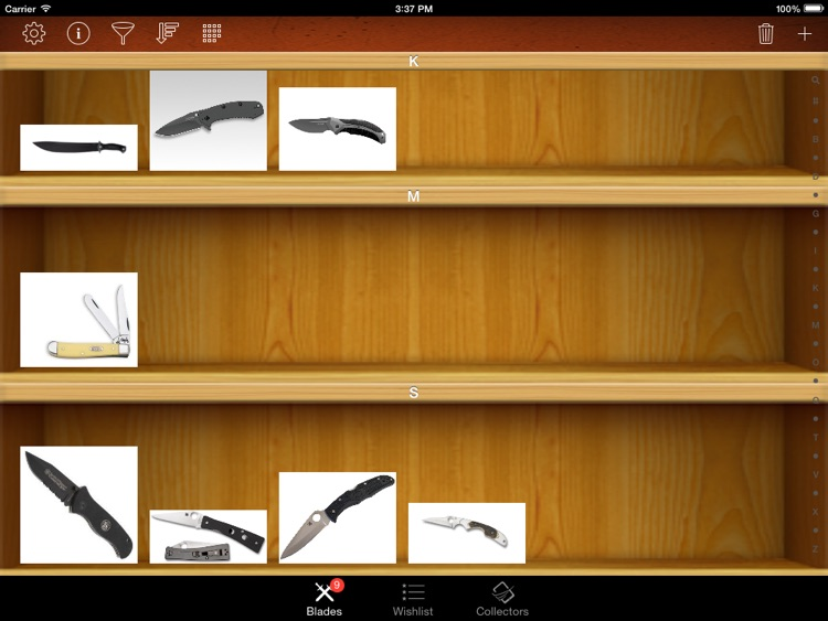 Knives and Swords Collector for iPad