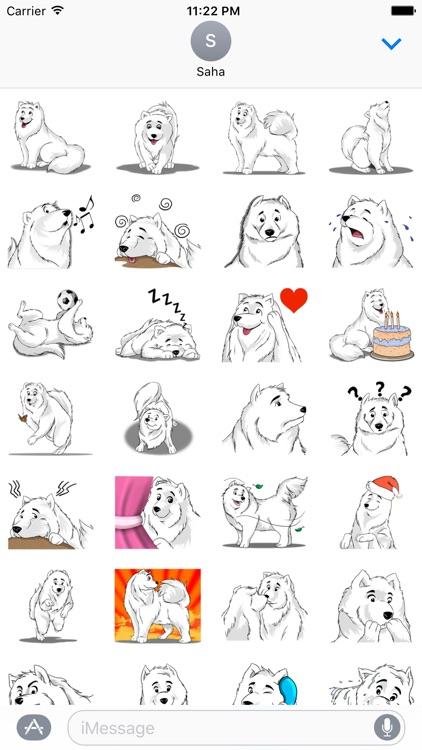 Snow Dog Stickers