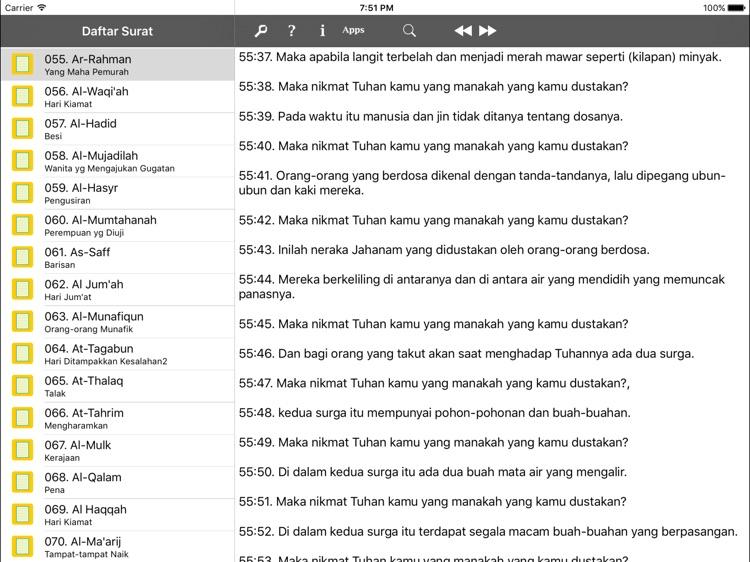 The Holy Quran HD - English Indonesia Translations screenshot-4