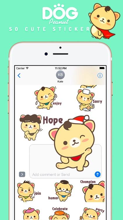 Peanut Dog Sticker Pro - Christmas New Year Emoji screenshot-4